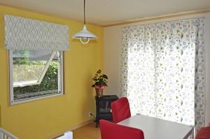 スウェーデンハウスのカーテン 北欧インテリア 葉・花 刺繍カーテン 大津 新築