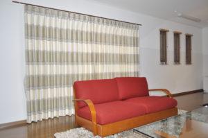 輸入カーテン モダンインテリア 木製ブラインド 小窓