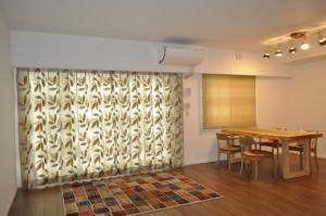 新築マンション イギリス製カーテン シェード 北欧風家具 大津市