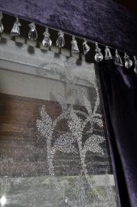 イギリス製トリム クリスタル バランスカーテン
