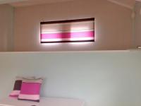 フューシャピンク ボーダー フランス製コットン 女の子のお部屋