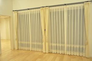 セパレート ギャザーレース エレガントスタイル 人気のカーテン