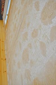 北欧住宅に自然素材のイギリス製刺繍ドレープ ScanD HOME ティンバーファクトリー
