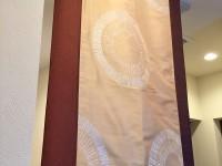 おしゃれなタペストリー 焼肉屋さんのカーテン 店舗に輸入カーテンを