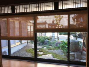 縁側に日本の伝統を生かした和の経木すだれを お庭を楽しむ  リフォーム