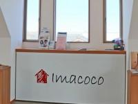会社のロゴ入りロールスクリーンを設置  栗東ハウジング/Imacoco様