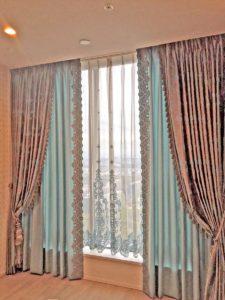 250.宮殿のようなうっとりするカーテン  タワーマンション/大阪