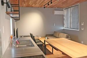 今流行の民伯「Rakuten STAY HOUSE x WILL STYLE」のカーテン  近江八幡